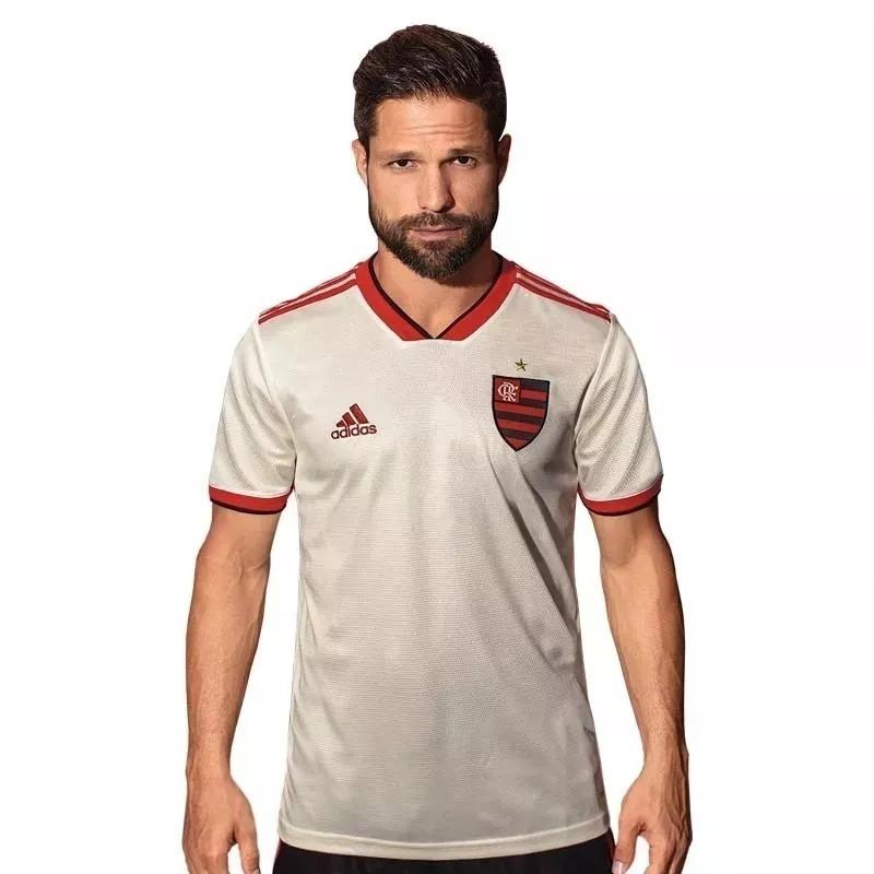 feb6ecf1b4 camisa flamengo ii 2018 branca adidas nova frete grátis 2019. 5 Fotos