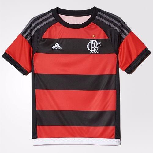 302c3c7656 Camisa Flamengo Infantil 2015 adidas - R  89