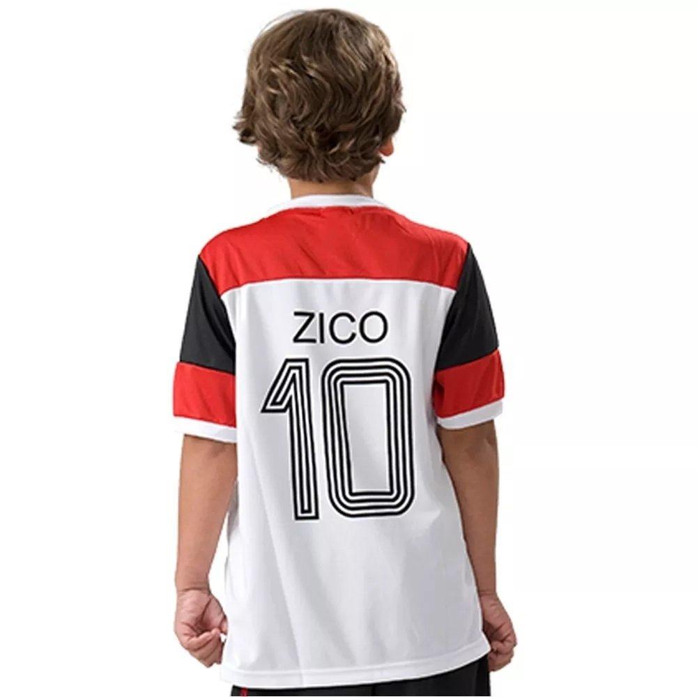 Camisa Flamengo Infantil Braziline Zico Retro - 6 - Branco - R  69 ... c9b28ac0f0f30