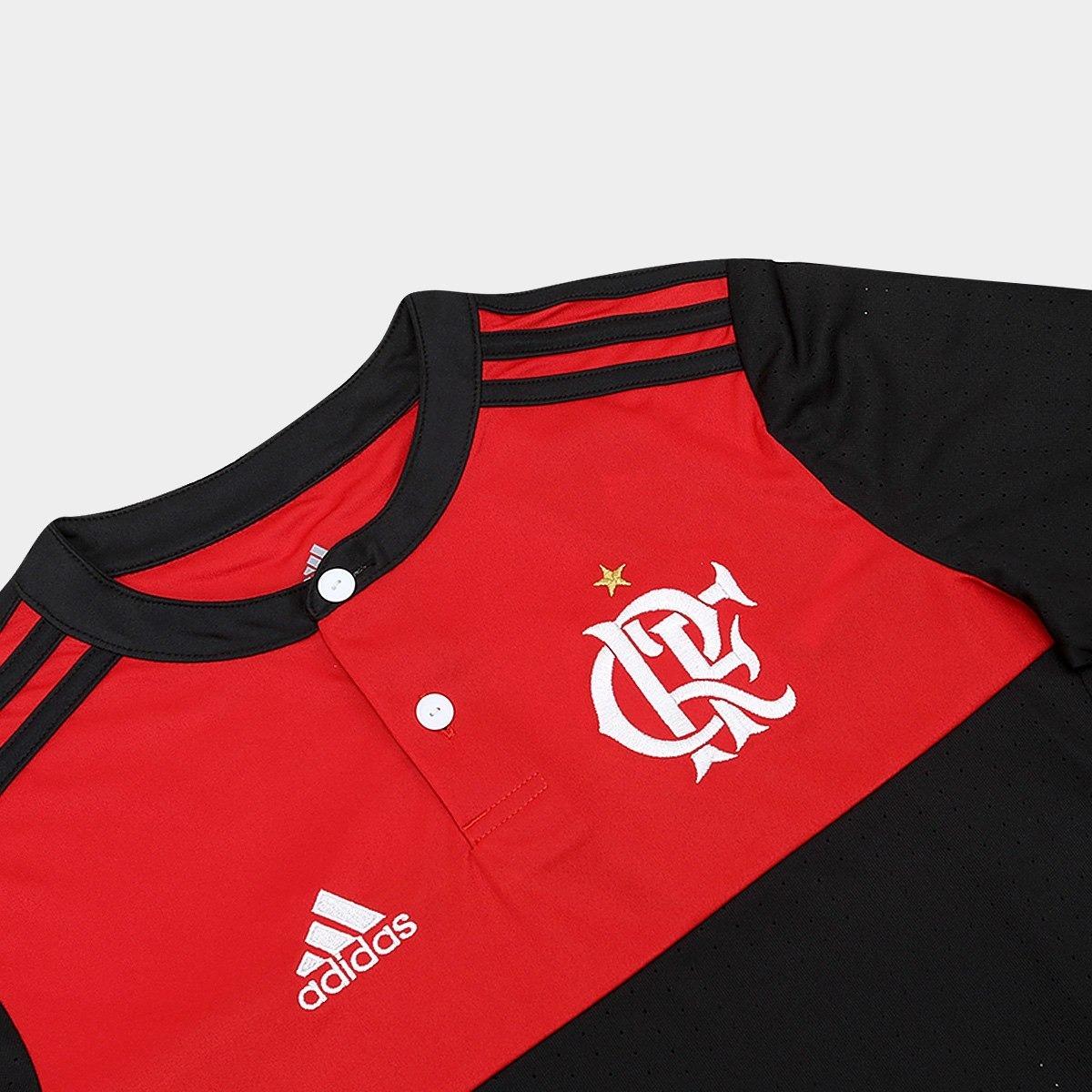 b21f9610f0 camisa flamengo infantil i 17 18 s nº torcedor adidas. Carregando zoom.