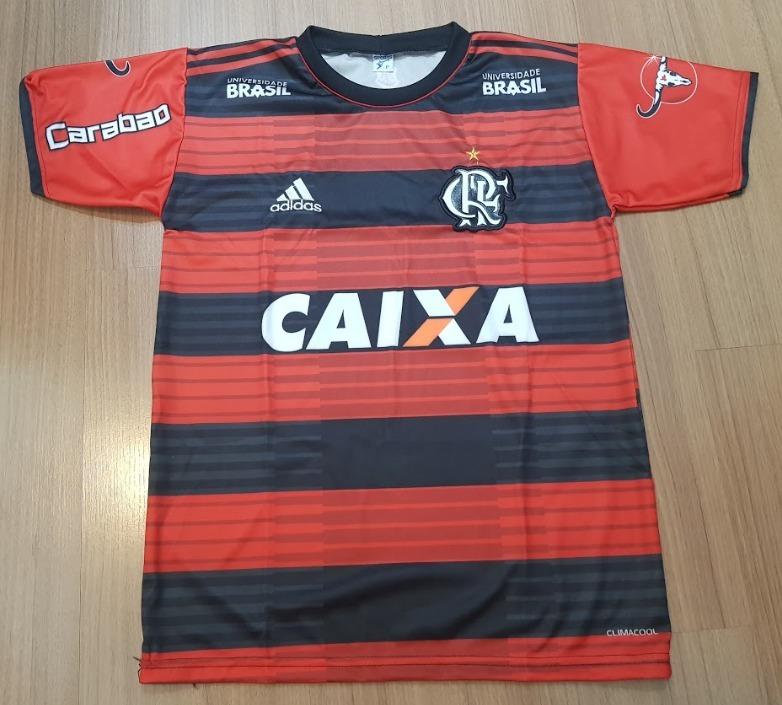 75debbdddf Camisa Flamengo Listrada Vermelha Preto Nova 2018 2019 - R  29
