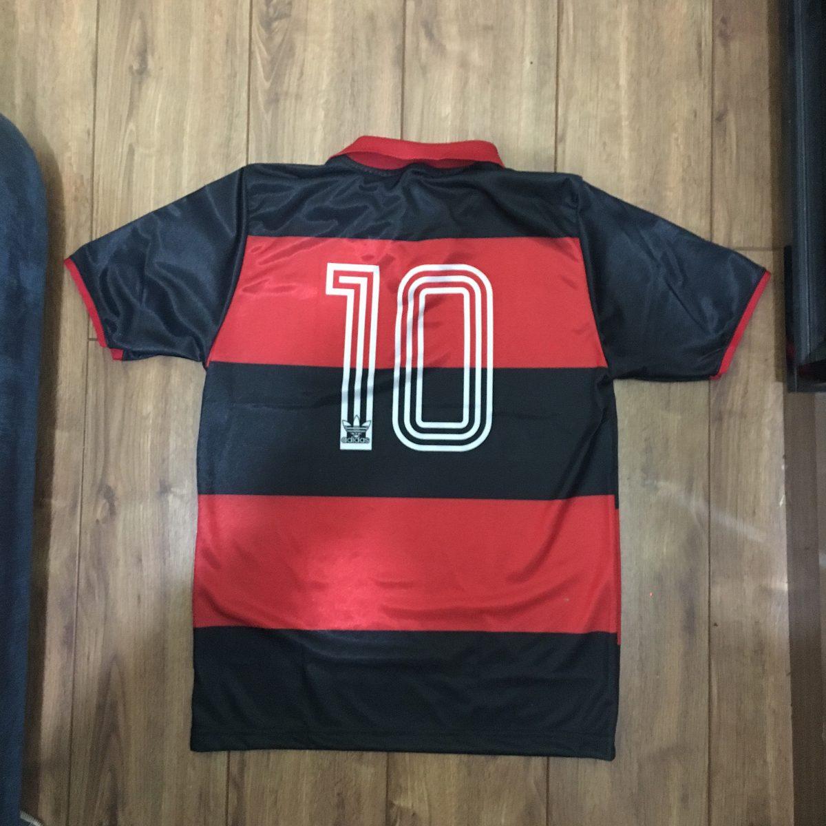 Camisa Flamengo Retro - Mengão - 1981 - Zico - Mundial - R  64 779a2cd19d063