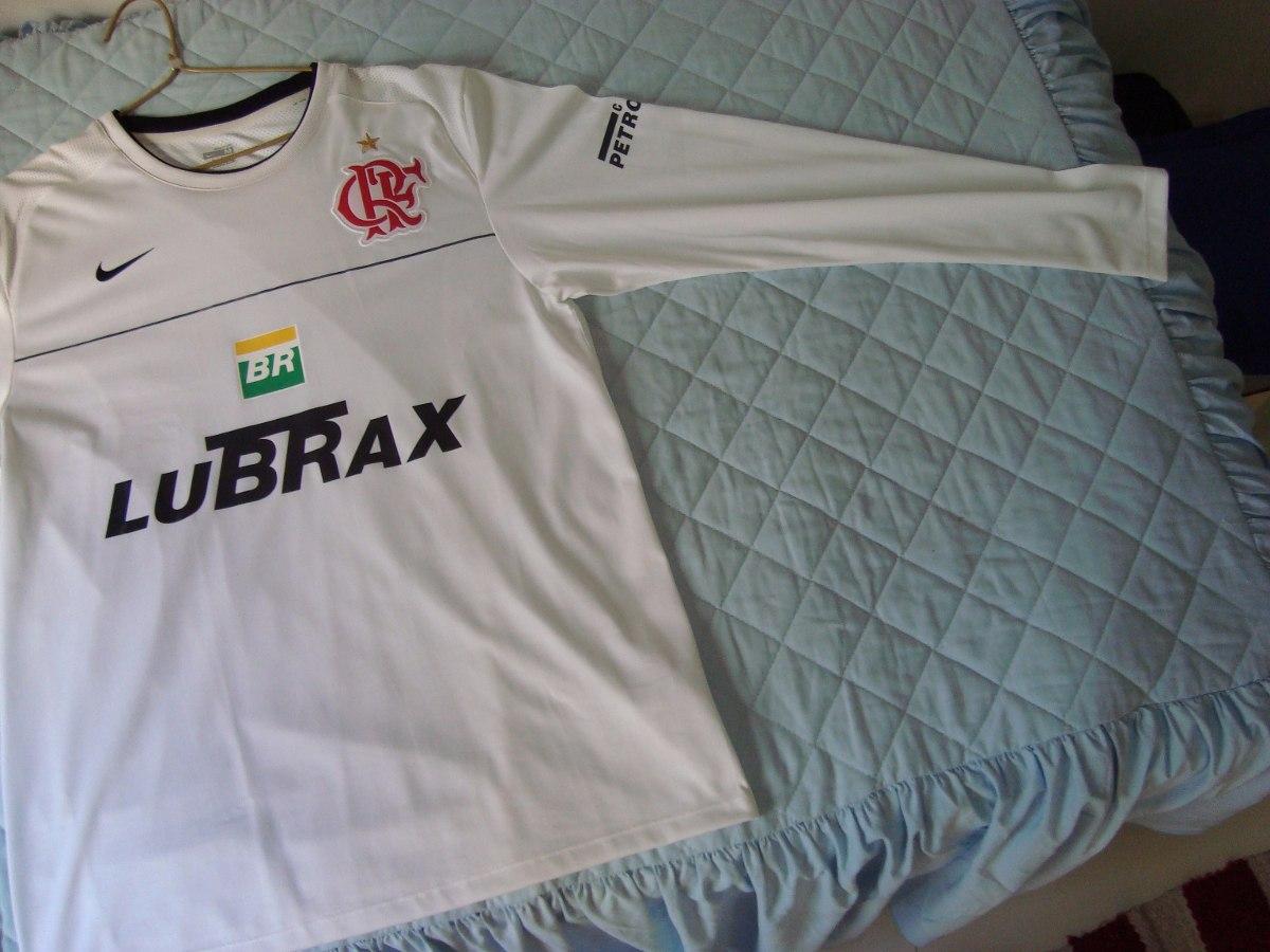 761348eb10d2c camisa flamengo nike branca treino - manga longa - tamanho m. Carregando  zoom.