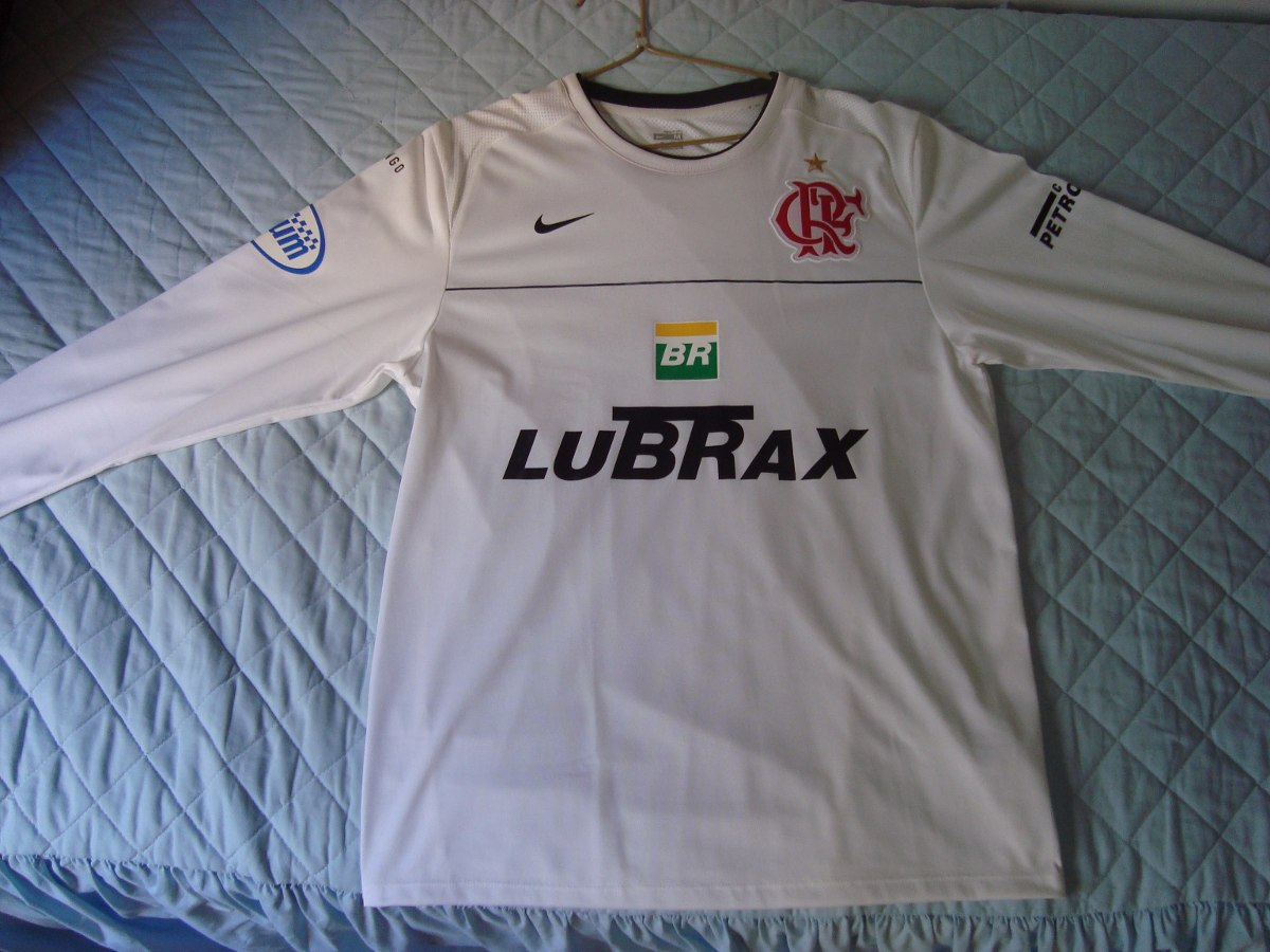 Camisa Flamengo Nike Branca Treino - Manga Longa - Tamanho M - R ... 69b262e325487
