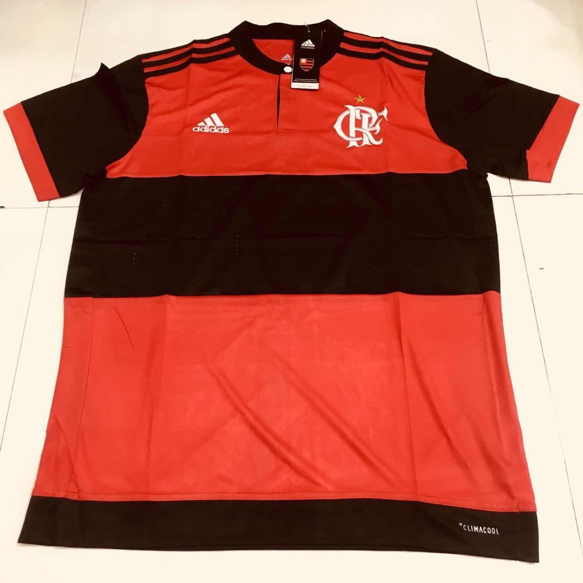 b2ebef84fc ... camisa flamengo oficial 2017 2018 adidas masculina promoção. Carregando  zoom.