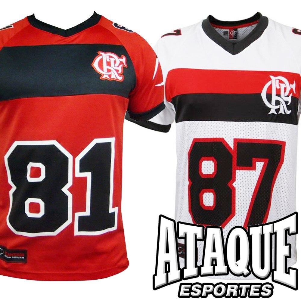 Camisa Flamengo Oficial Foot Americano 2014-15 Bran Ou Verm - R  92 ... 7c465d1b22c16