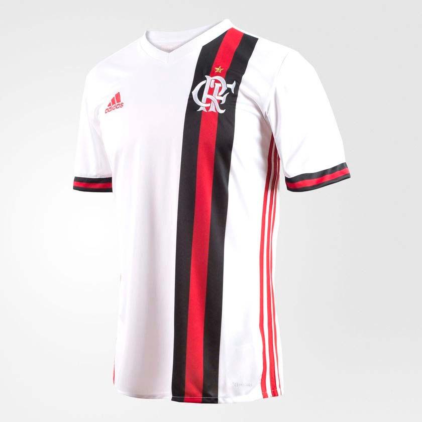 80d1541987 Camisa Flamengo Oficial Jogo 2 adidas 2017 - R$ 249,90 em Mercado Livre
