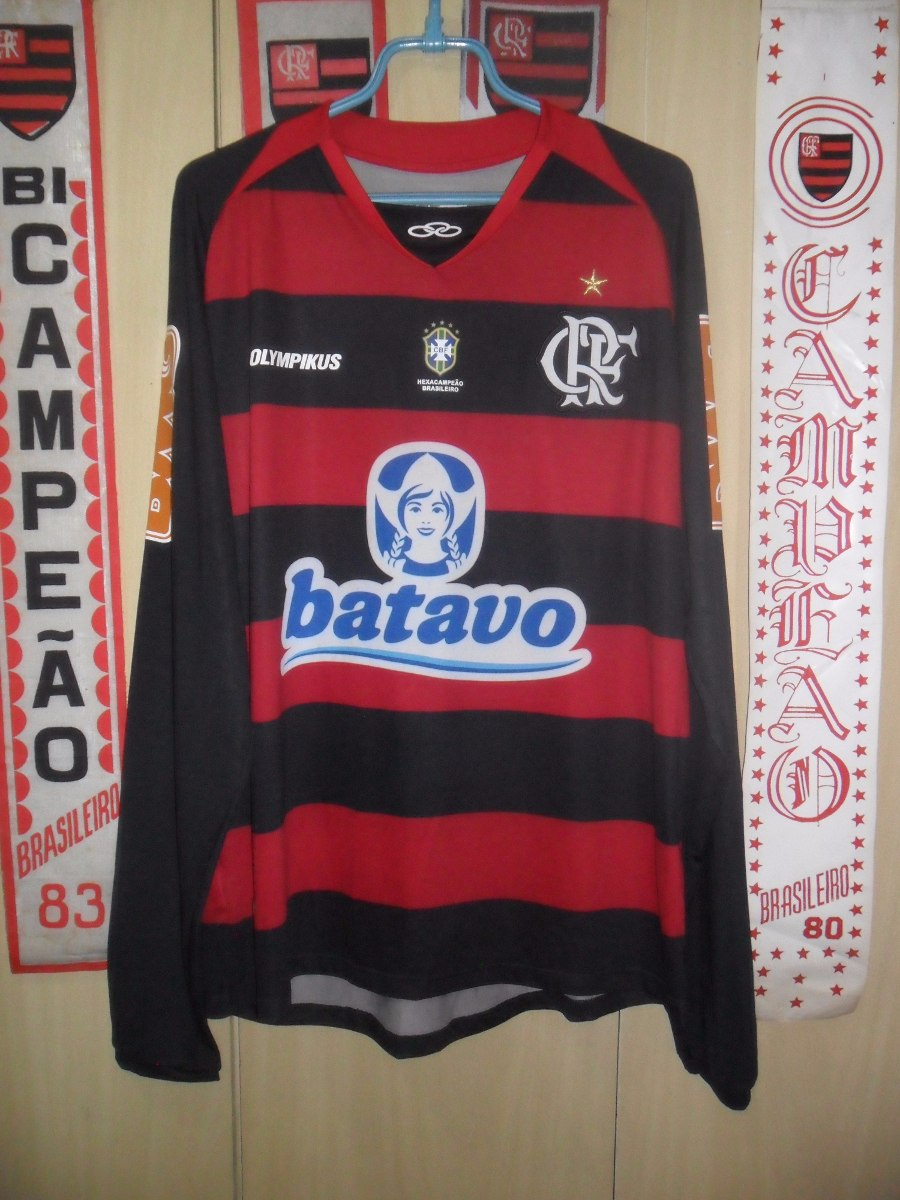 camisa flamengo ( olympikus - manga comprida ). Carregando zoom. e808e7b631e24