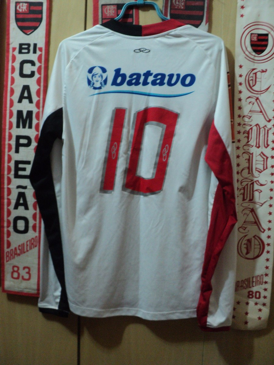 camisa flamengo ( olympikus   manga comprida  nº 10 ). Carregando zoom. e97b7b76c9f9d