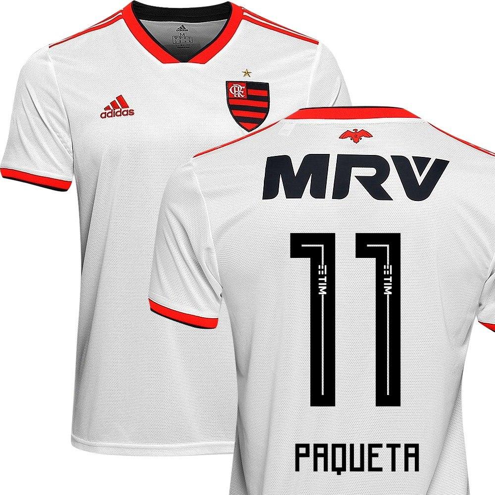 Camisa Flamengo Original Bege Reserva Off White Nº11 Paqueta - R ... 2cf1e7592c6fe