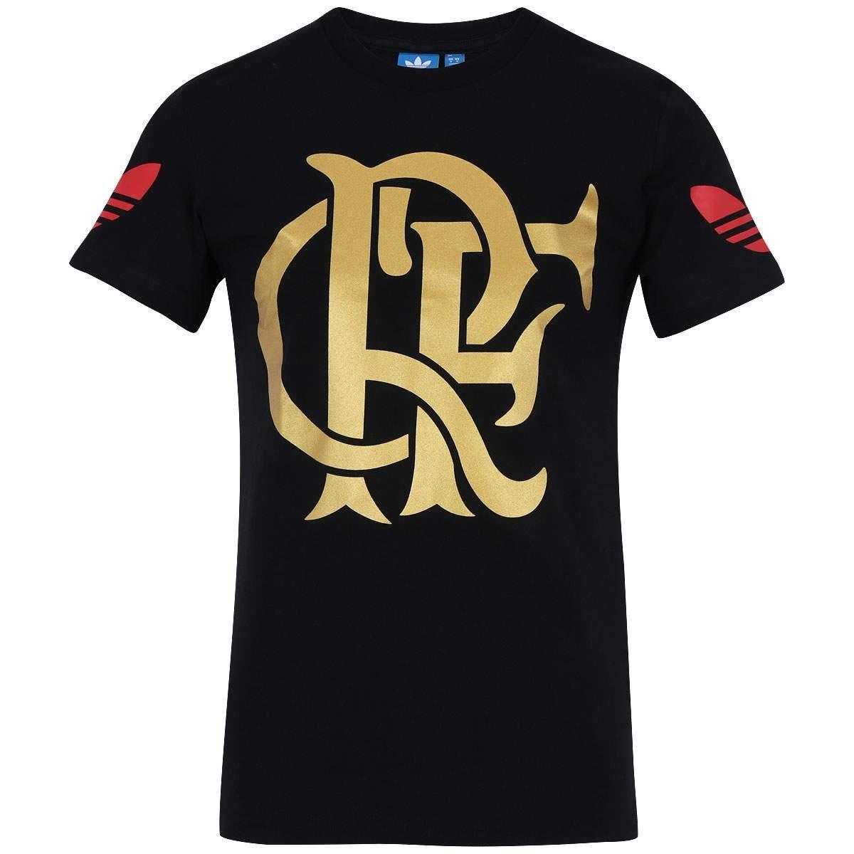 ff1c9a3a687 camisa flamengo preta algodão adidas dourada original 2016. Carregando zoom.