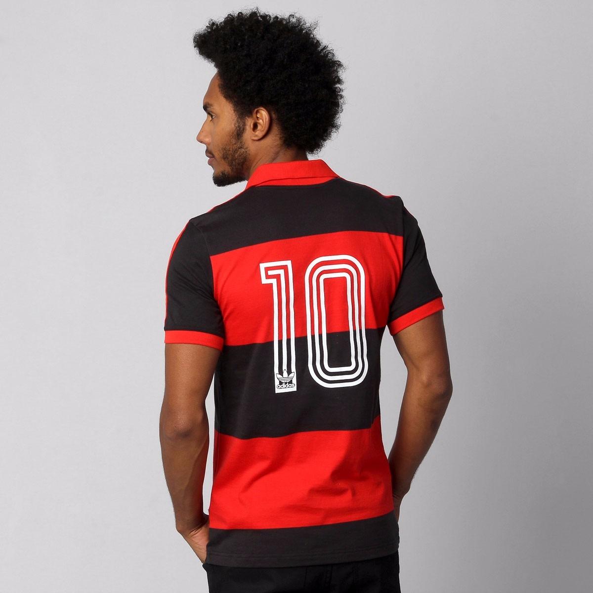 0e6c7a7fc1 ... Icon Edição Limitada Retrô 376cff96ca3206  Camisa Flamengo Retro 80  Pólo Premium adidas Original - R 165