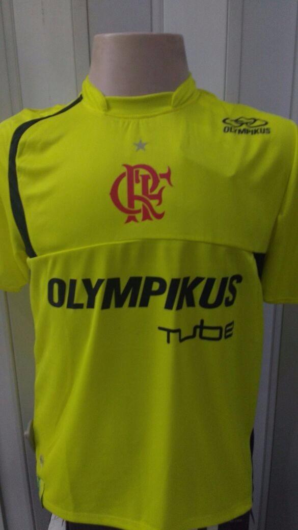 camisa flamengo treino amarela olympikus. Carregando zoom. c7c57358810e5