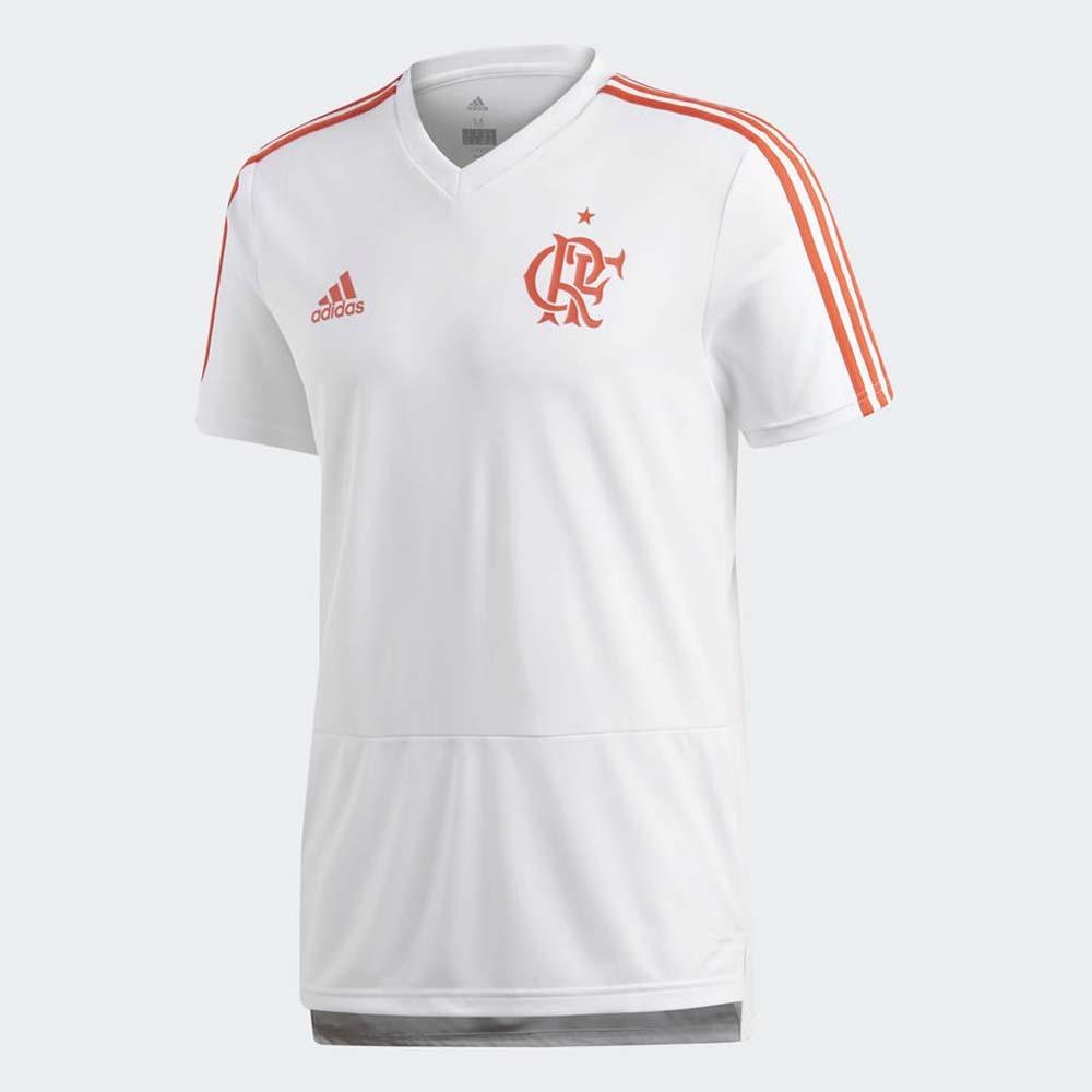 camisa flamengo treino branca adidas 2018. Carregando zoom. 7b04d6a49b6da