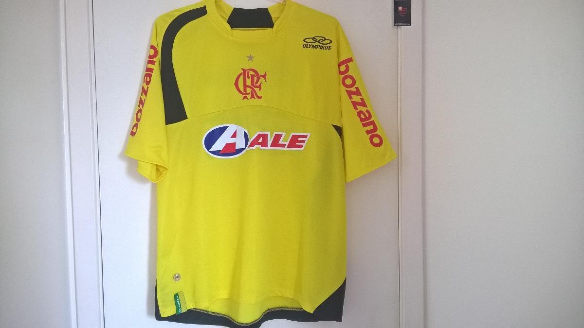camisa flamengo treino olympikus ale 2009 amarela s detalhes. Carregando  zoom. ed35aa455fea1