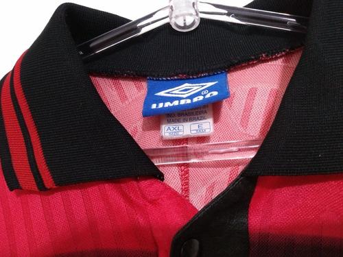 camisa flamengo umbro titular 1997/1999 jogo #2 coleção / gg