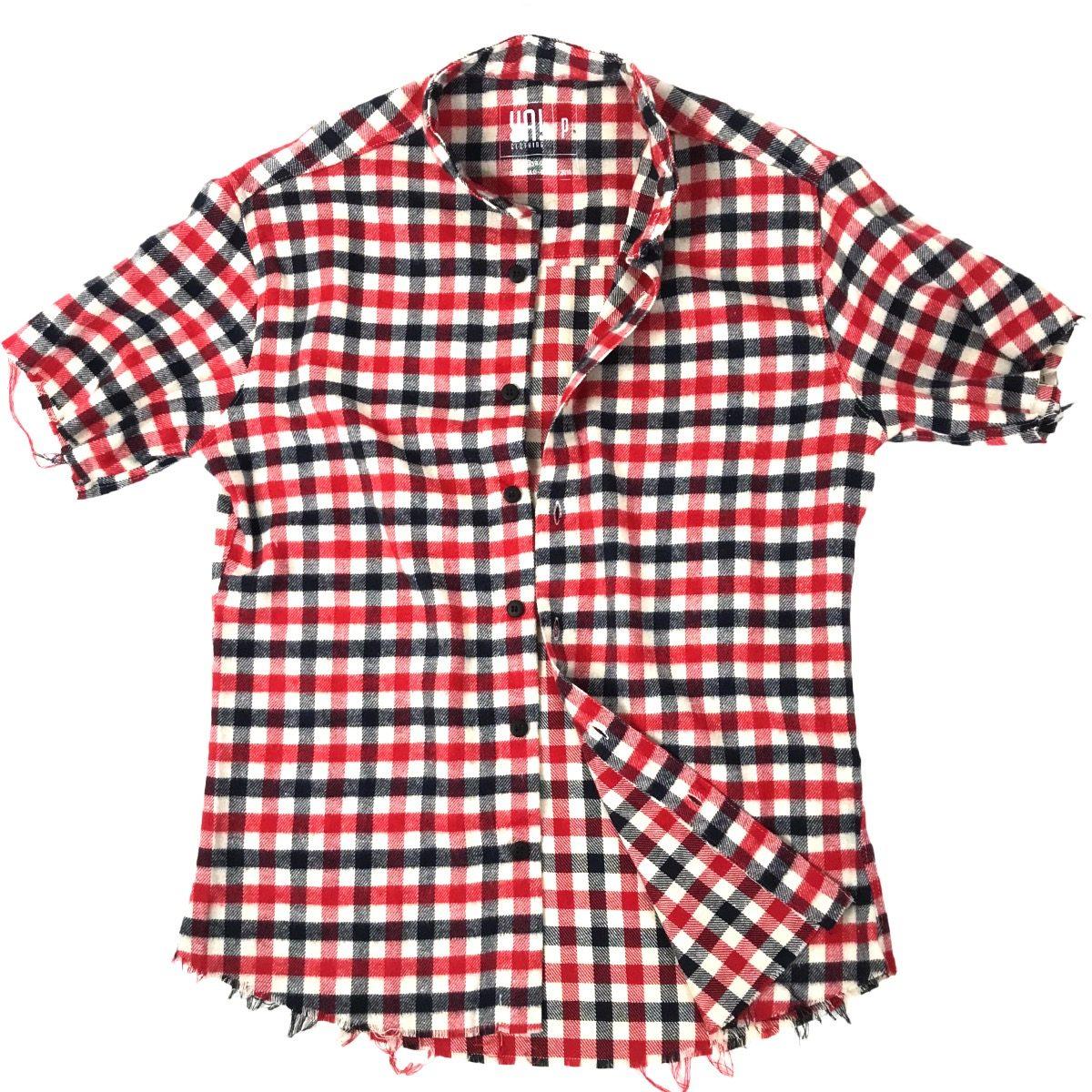 camisa flanelada vermelha - manga curta. Carregando zoom. 5b631d2d1edbf