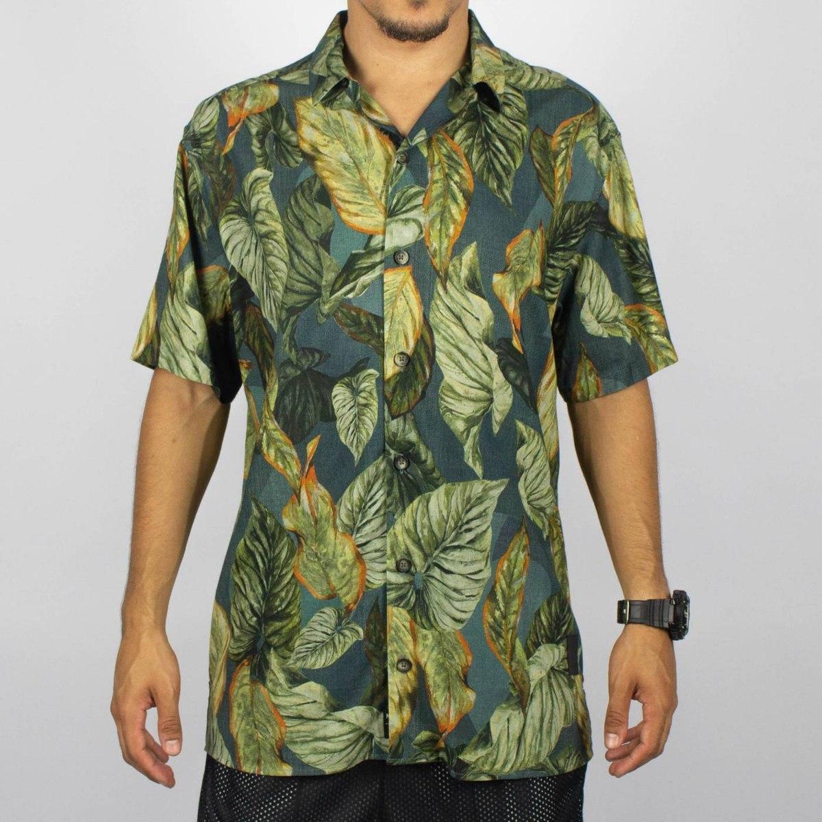 51f72bd555 camisa floral mcd atlantic forest musgo original. Carregando zoom.