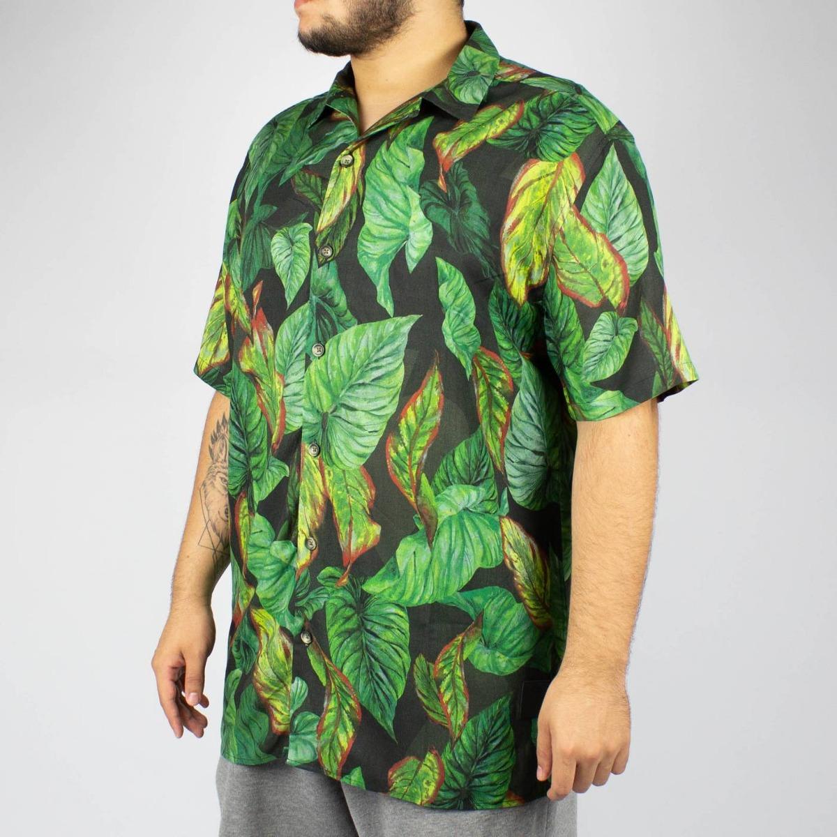 52e48b0964 Camisa Floral Mcd Atlantic Forest Preta Original - R  299