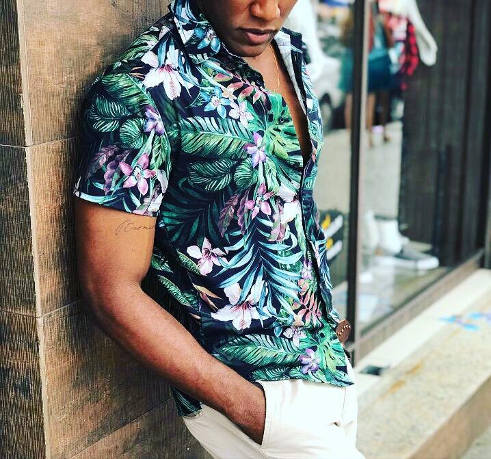 Camisa Floral Slim Fit Florida Havaianas Verão 2018 - R  95 b933d8e0870cc