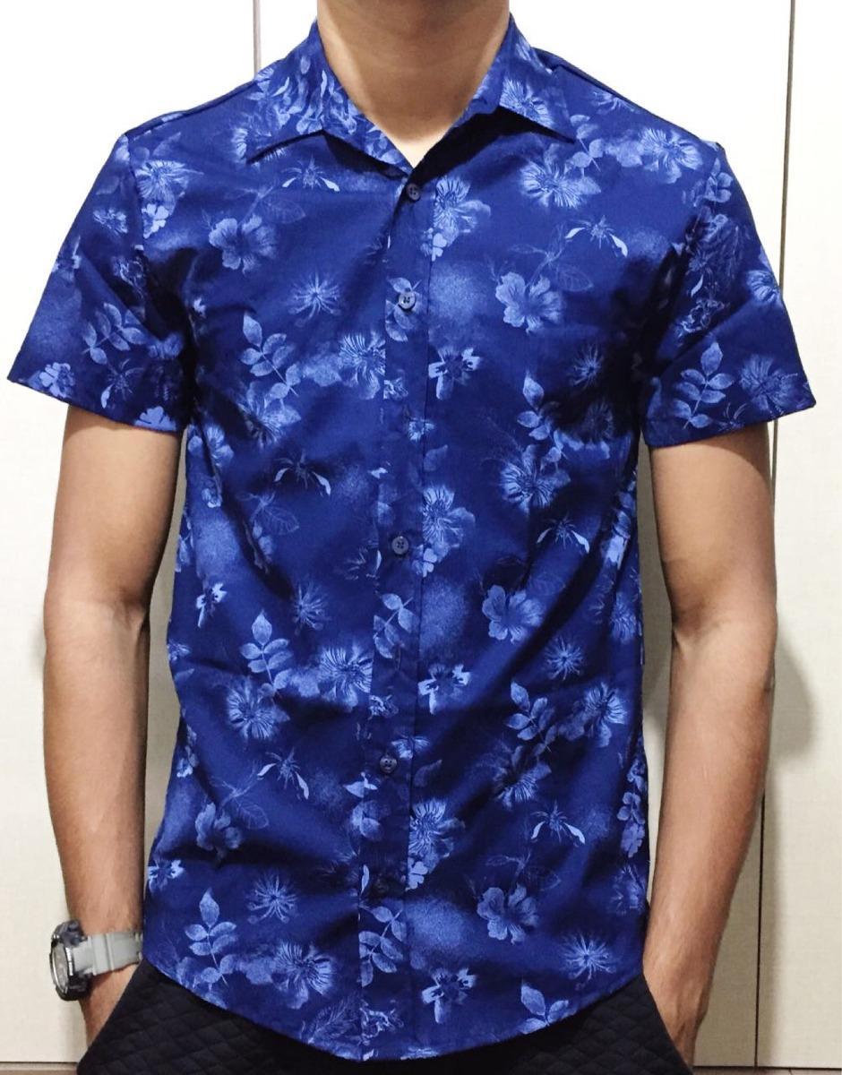 camisa floral slim fit florida havaianas verão 2018. Carregando zoom. 09909f6ab76ef
