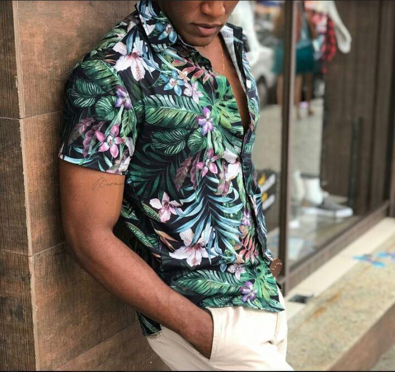 camisa floral slim fit havaiana oakley verao neymar. Carregando zoom. 71bfaf744aae9