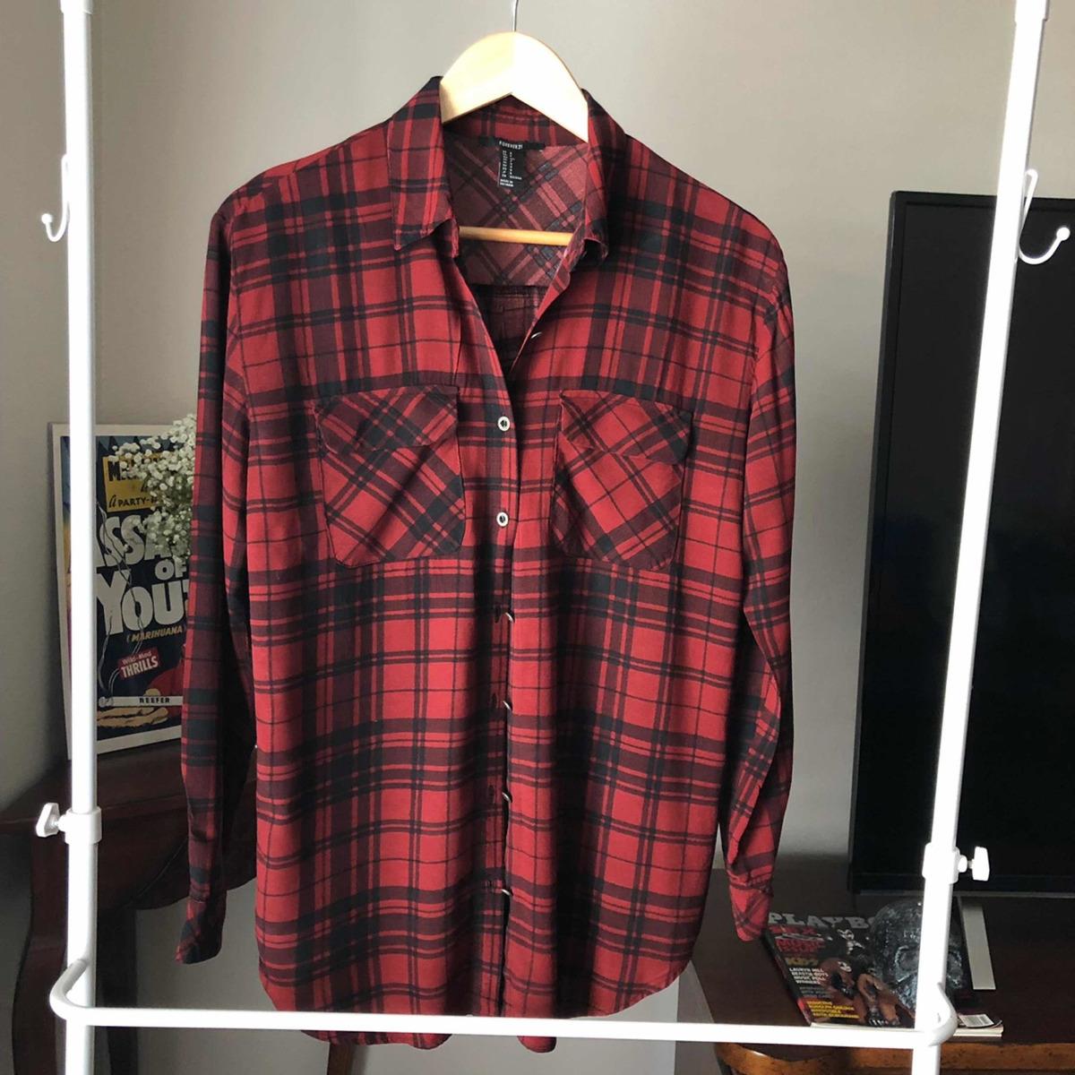 Camisa Fluida Cuadros Marca Forever 21 $ 200.00