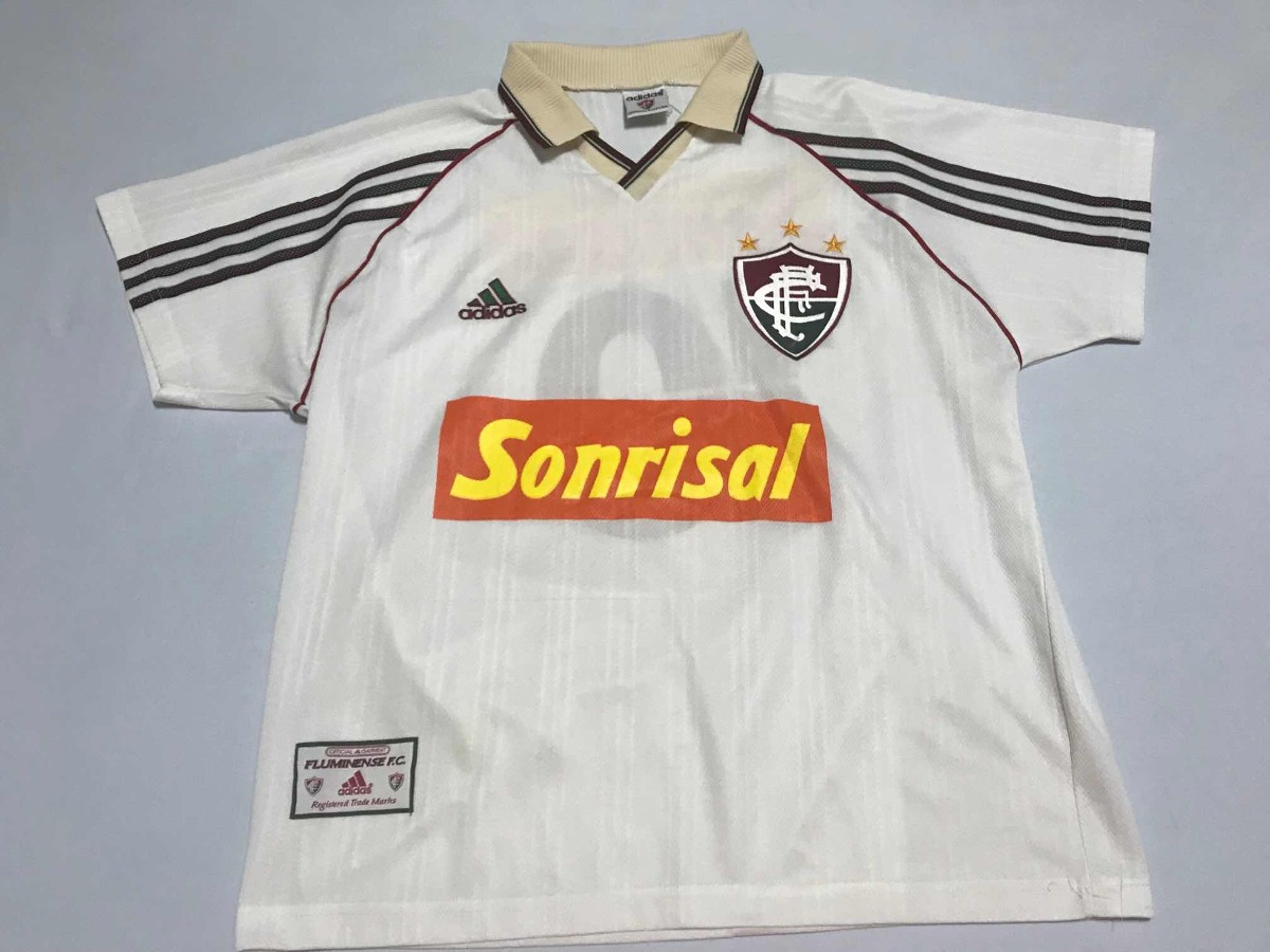 d91a74dadd6d0 Camisa Fluminense 1998 1999 Sonrisal Exclusiva De Jogo - R  380