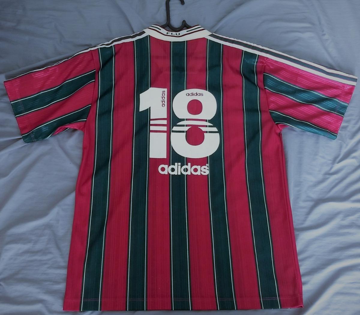 camisa fluminense adidas 1996 de jogo  18 sem patrocinio. Carregando zoom. 879119e3baab4