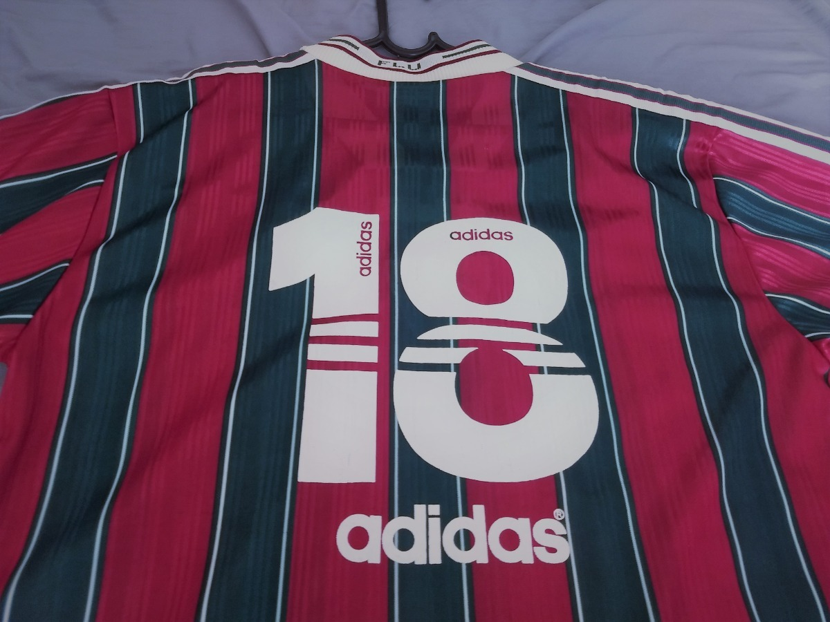 camisa fluminense adidas 1996 de jogo  18 sem patrocinio. Carregando zoom. aa44772523768