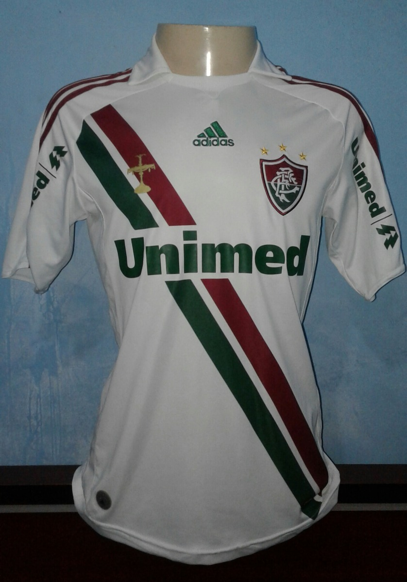 caf5ebe3ebd54 Camisa Fluminense adidas 2009 (branca - Away) - R  199