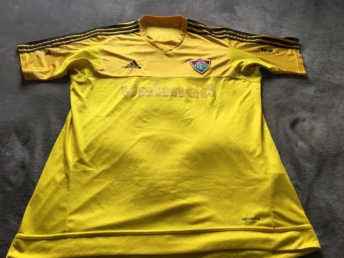 8d2da6fa0e454 Camisa Fluminense Amarela 2014 - R  80