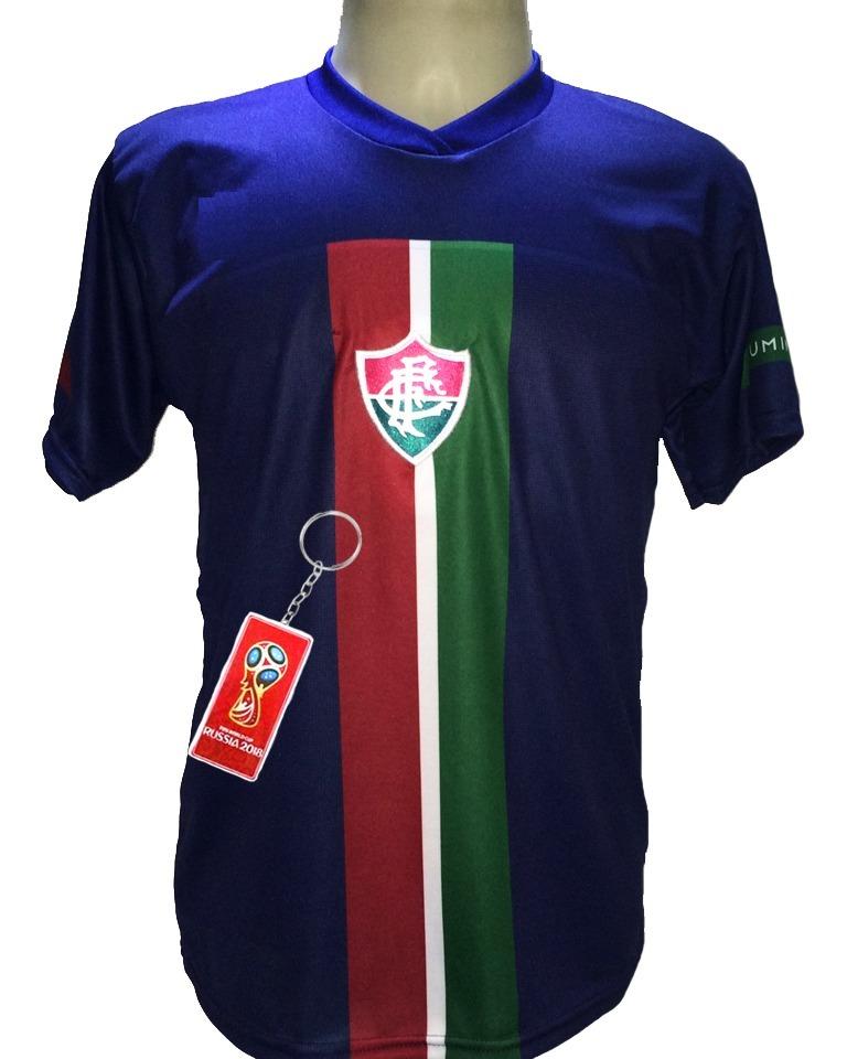 Camisa Fluminense Azul Faixa Vermelha Nova 2019 Lancamento - R  29 ... e01a044d0b24d