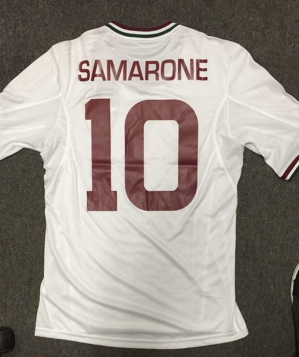 camisa fluminense - branca samarone p e listrada m. Carregando zoom. 31df65eda32fd