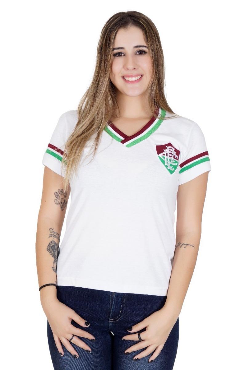 camisa fluminense feminina 1952 branca - liga retrô. Carregando zoom. 5813bedc73ffd