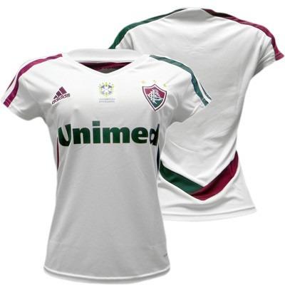 681859d296 Camisa Fluminense Feminina Tricampeão Brasil 2013 - R  89