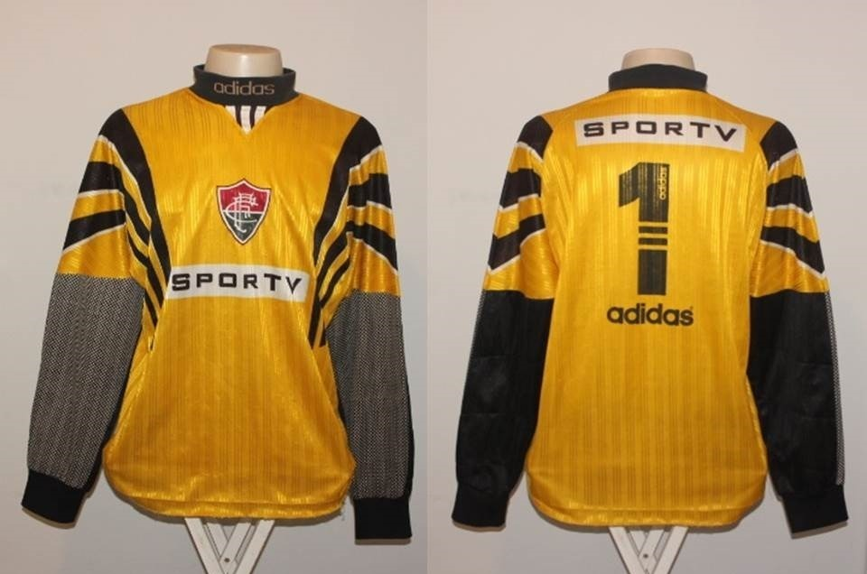 fad2de39e1 camisa fluminense goleiro adidas sportv 1996  1 - de jogo. Carregando zoom.