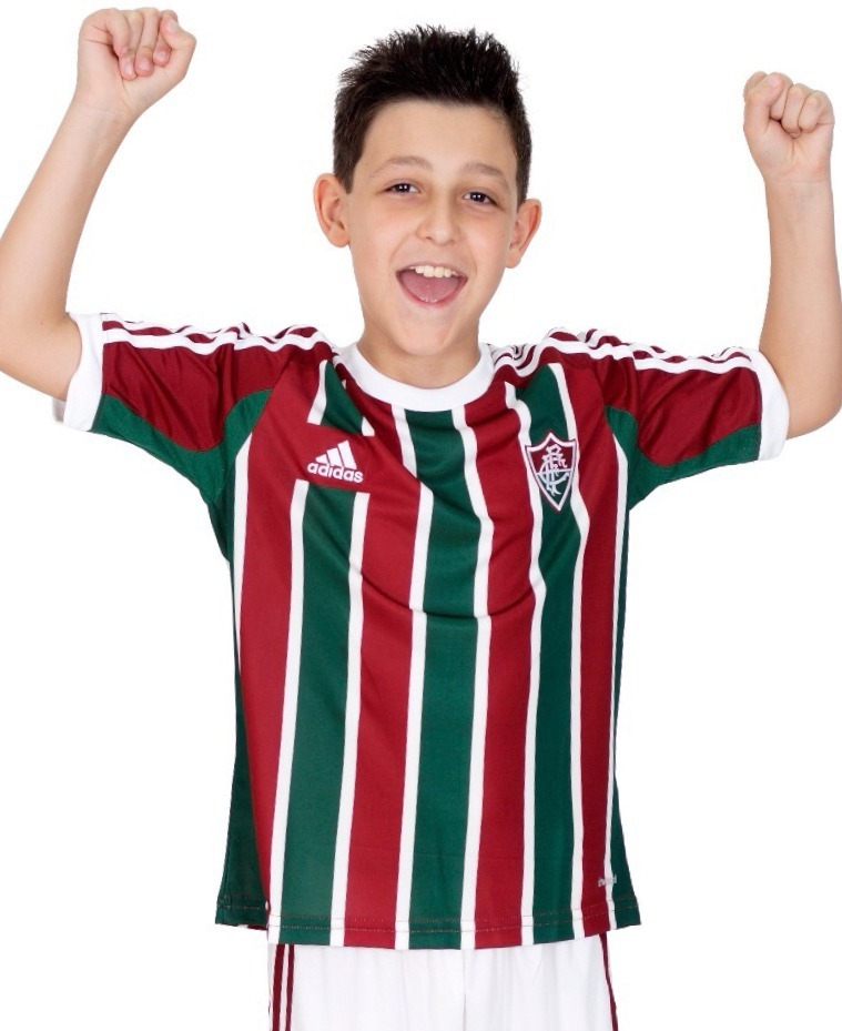 eda0b66906385 camisa fluminense infantil 2015 adidas tricolor oficial. Carregando zoom.