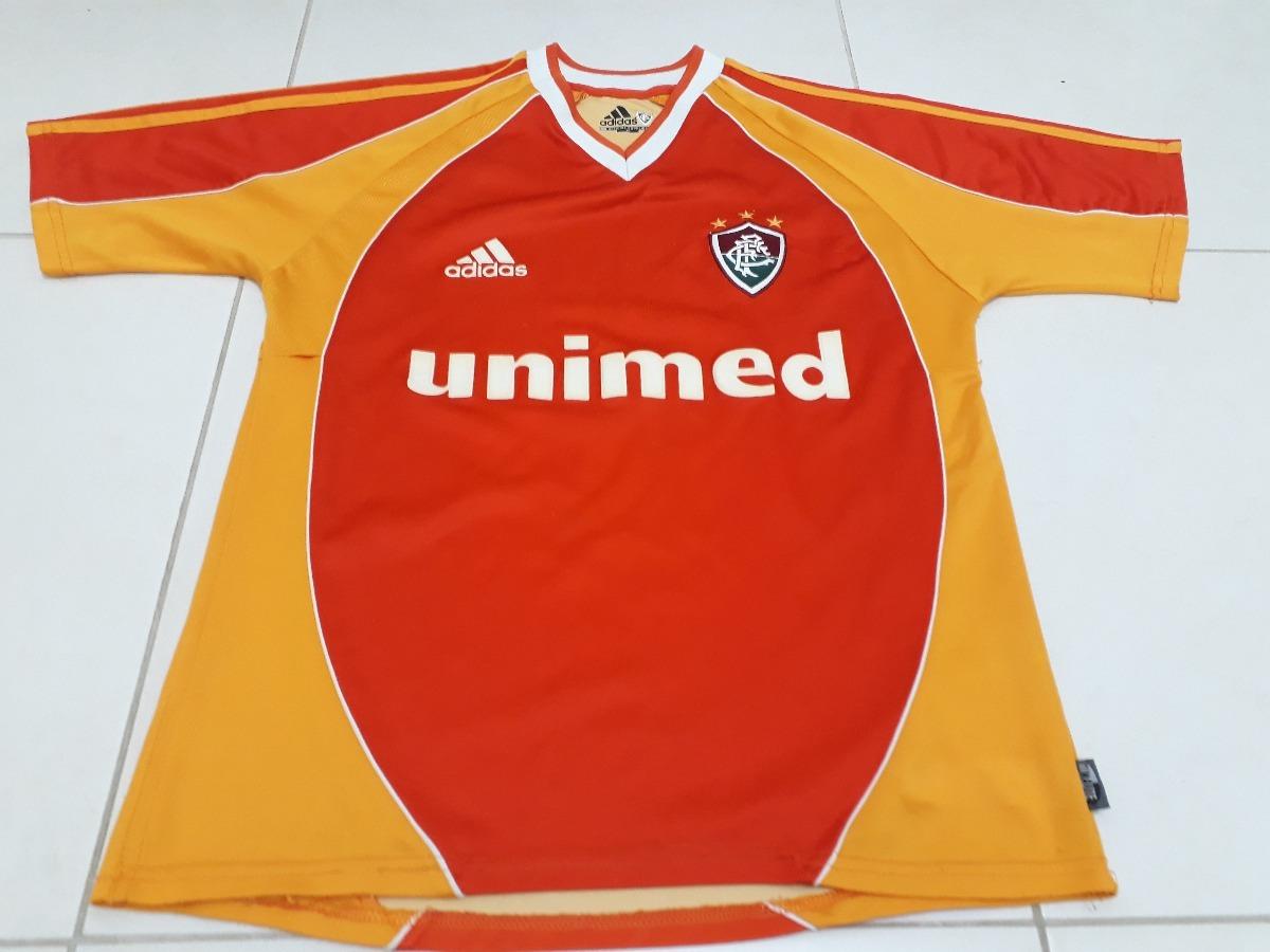 cfef249f46 camisa fluminense laranja adidas 2002 centenário  10 tam m. Carregando zoom.