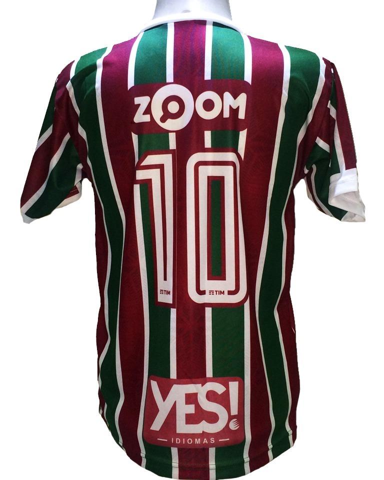 8f1747f7d6 Camisa Fluminense Listrada Vermelha Verde Grená 2019 - R  29