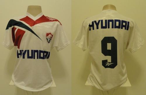 camisa fluminense reebok hyundai 1995 away #9 - g