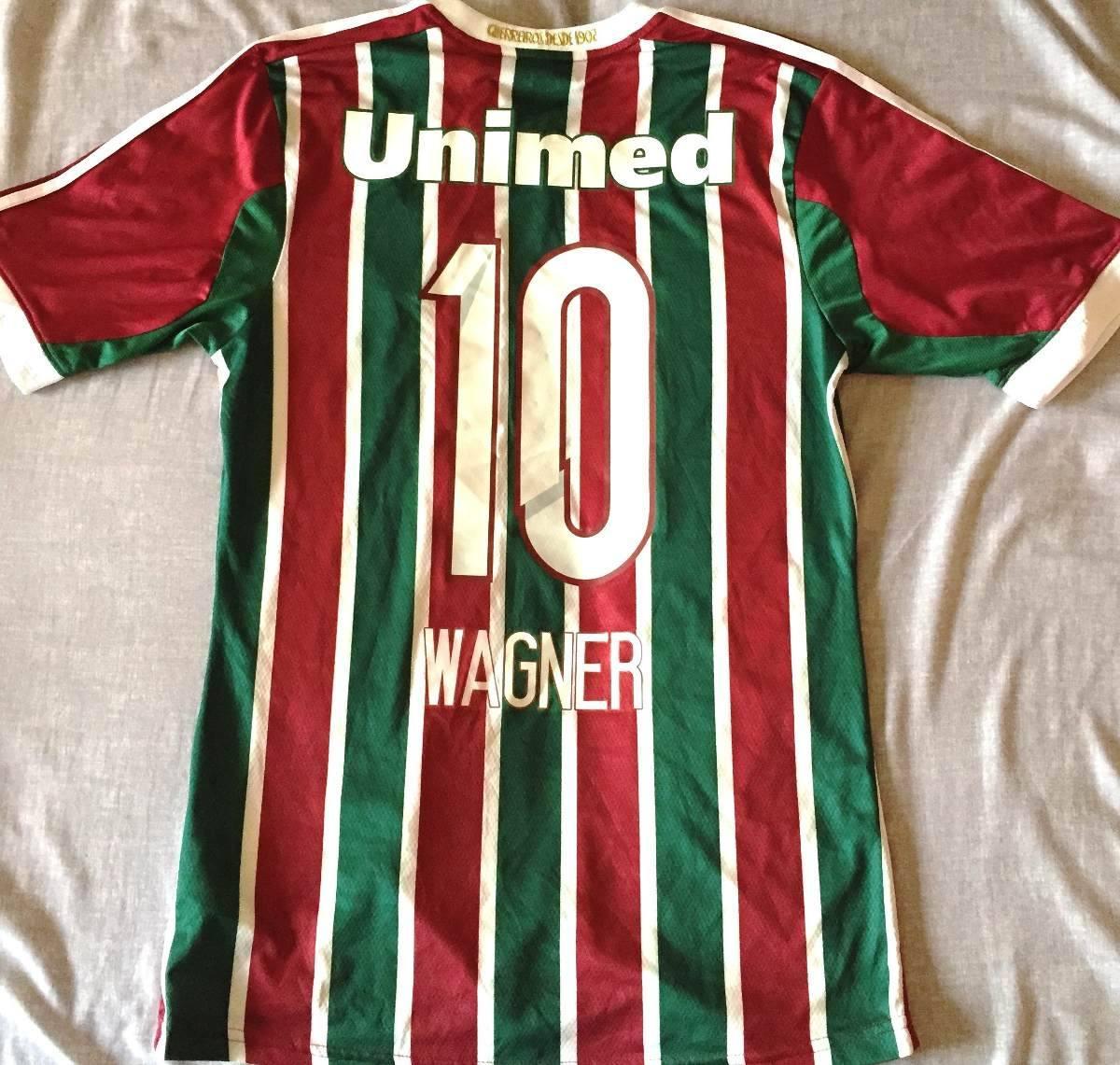 camisa fluminense usada jogo brasileirão 2014 wagner  10. Carregando zoom. da4fdd568290c