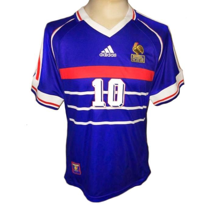 41cf6c464df53 Camisa França  10 Zidane Final Copa De 1998 França - R  1.129