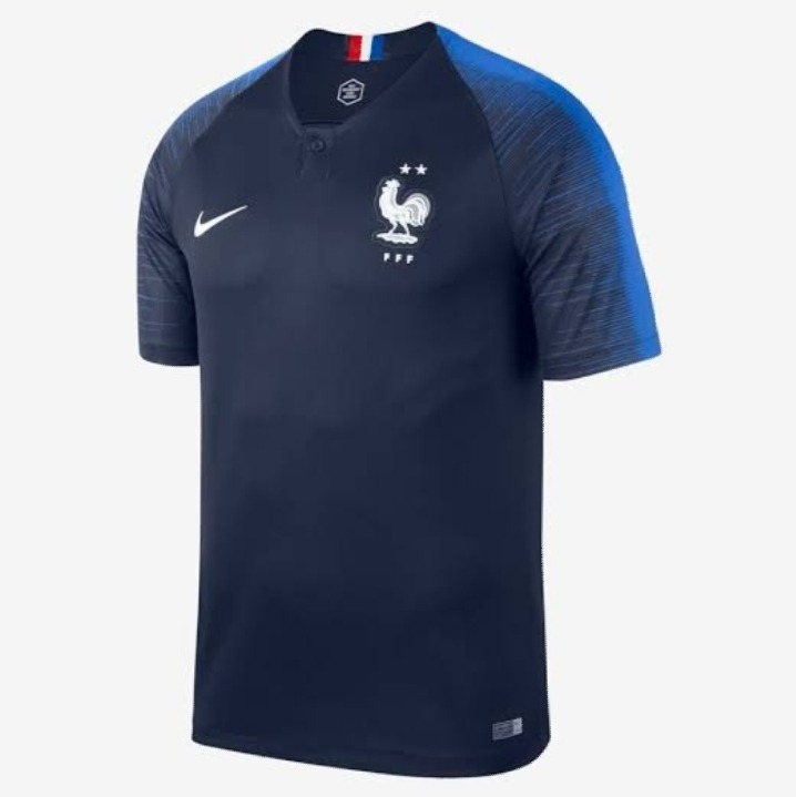 Camisa França - 2018 2019 - Uniforme Tradicional - Nike - R  120 d6f6ec6304639