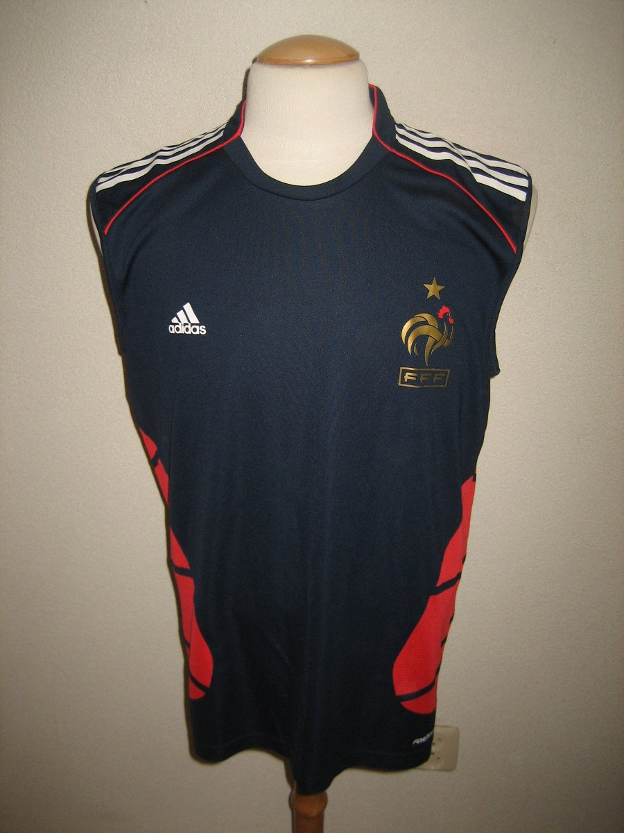 ddb88f0f56 Camisa França adidas Treino Euro 2008 Austria Suica - R  299