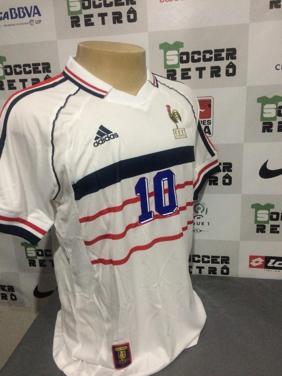 b458baca0d camisa frança away copa do mundo 1998 zidane 10. Carregando zoom.