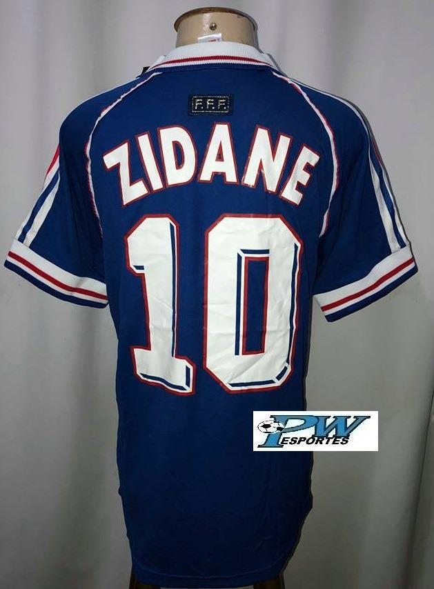 camisa frança copa 1998  10 zidane. Carregando zoom. 8f07fdf8383d4