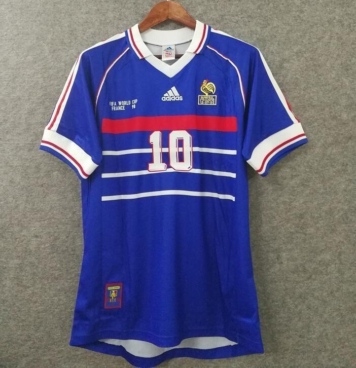 c78681dc6a Camisa França - Copa 1998 Zidane - Personalização Grátis - R  199