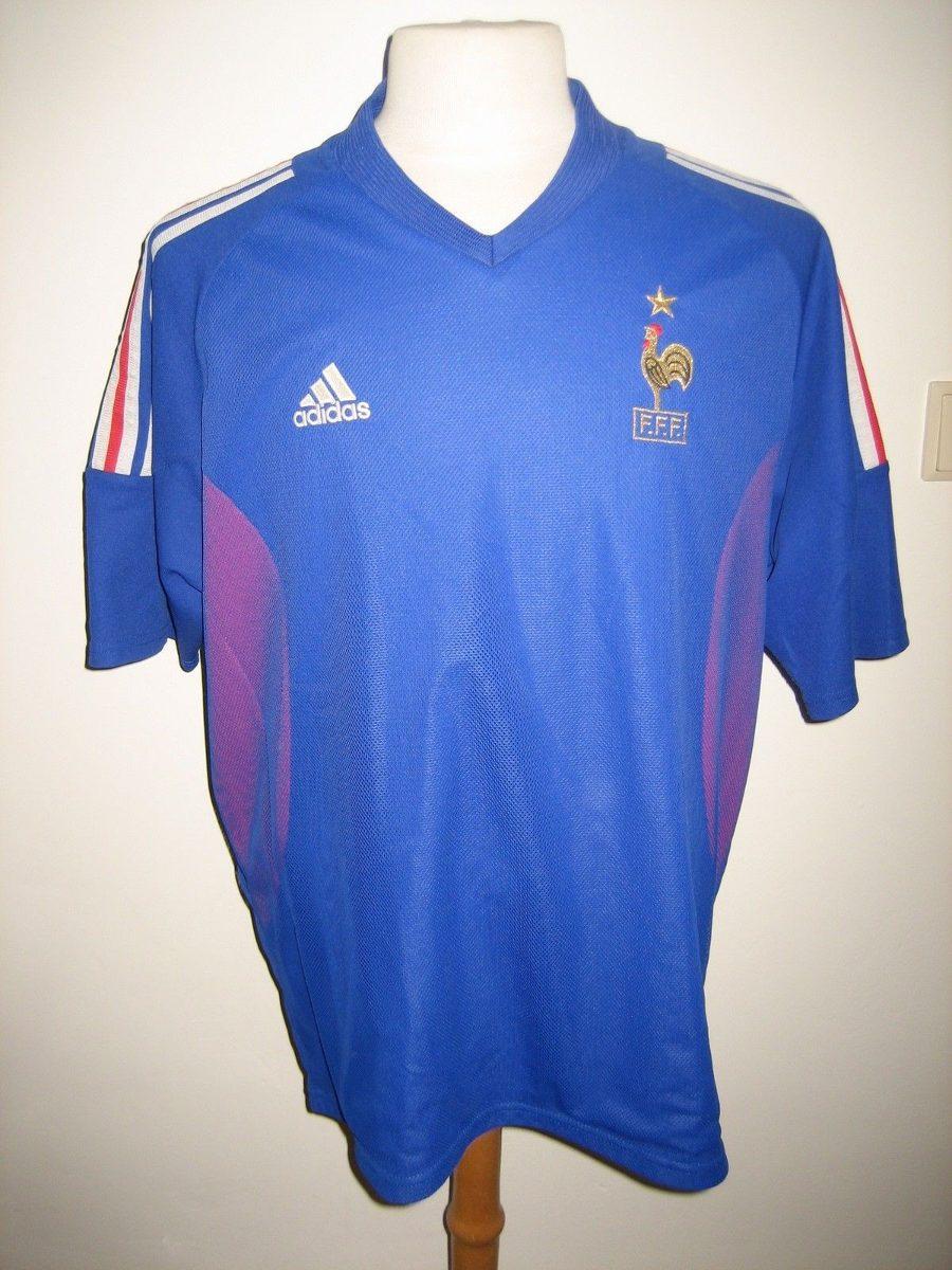 16a0aa2a54977 Camisa França Copa 2002 adidas Dupla Camada De Jogo - R  499
