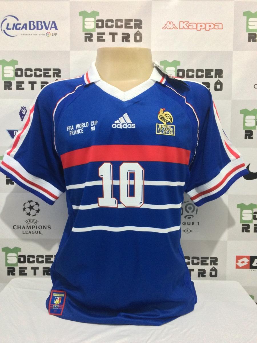 f3f86ba6c2 camisa frança copa do mundo 1998 zidane 10. Carregando zoom.